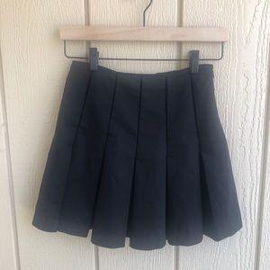 Parker Black Pleated Skirt
